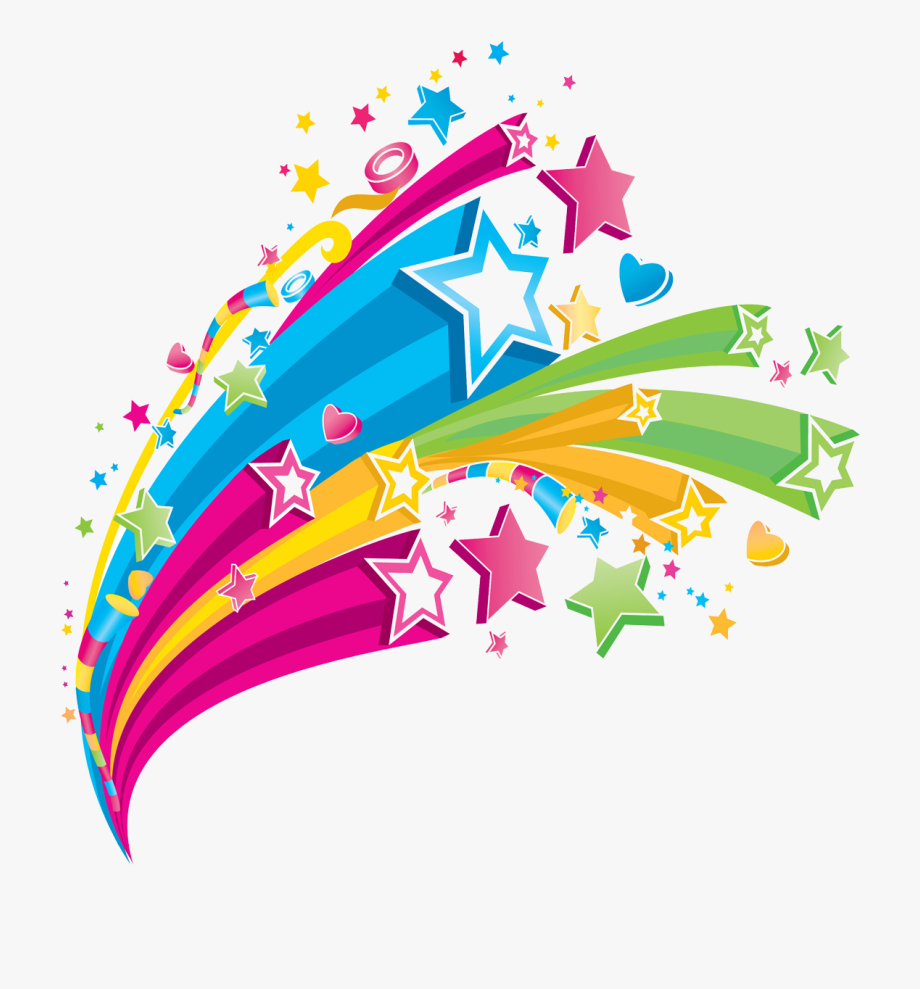 Colerful cliparts vector transparent download Shooting Star Clipart Rainbow - Colorful Star Design Png, Cliparts ... vector transparent download