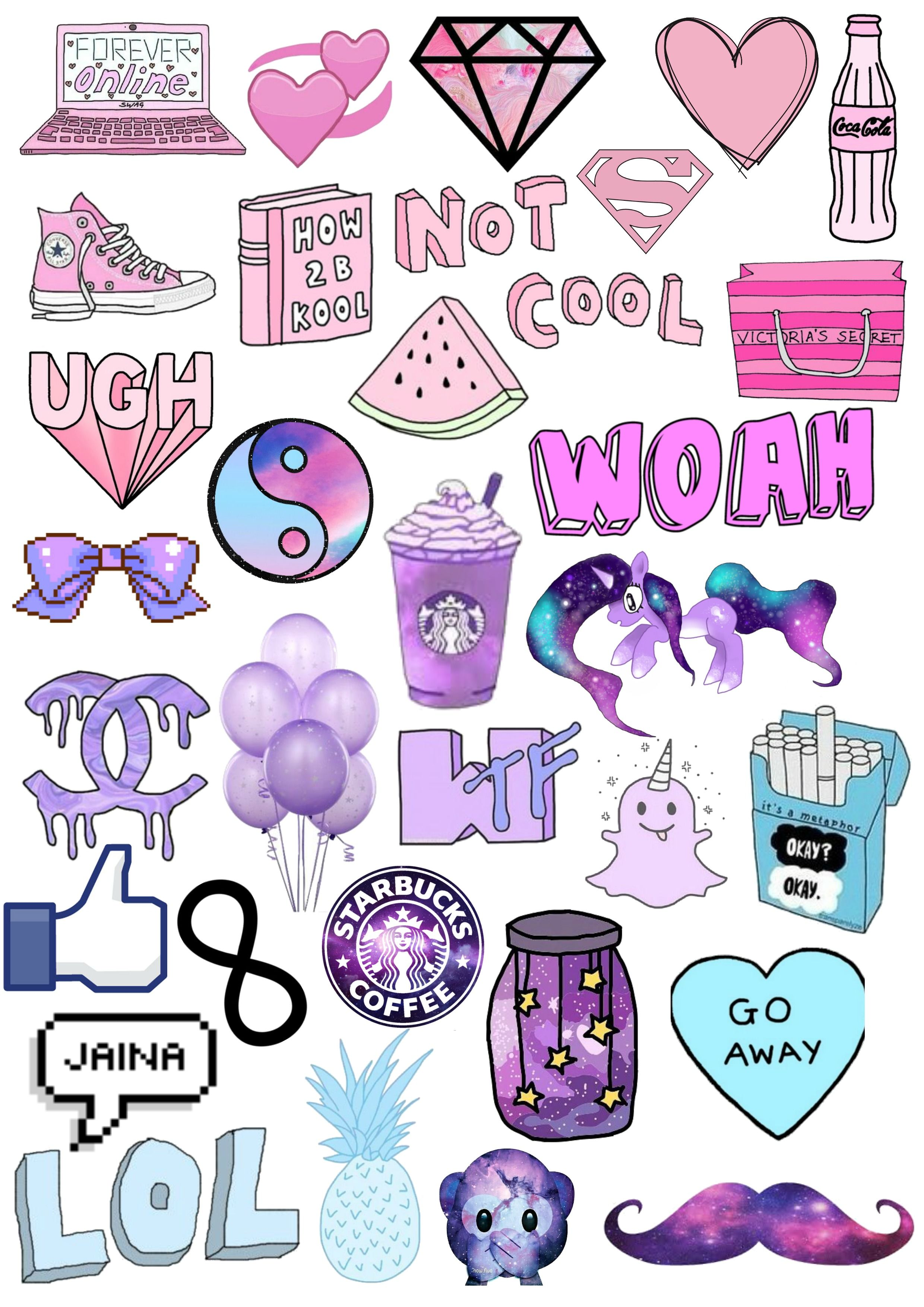 Tumblr clipart collage