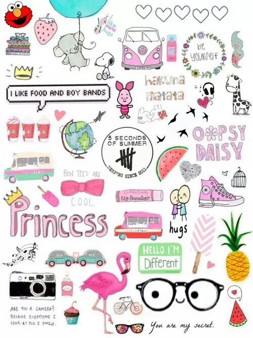 Tumblr clipart collage clipart black and white download Drawn Collage tumblr transparent food - Free Clipart on Gotravelaz.com clipart black and white download
