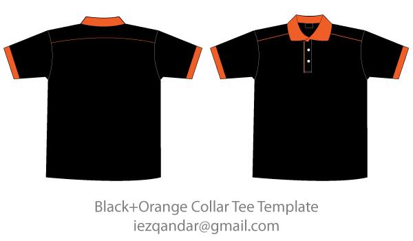 Collar t shirt template clipart jpg transparent download Free Black & Orange Collar T-Shirt Template | Free Vectors | Shirt ... jpg transparent download