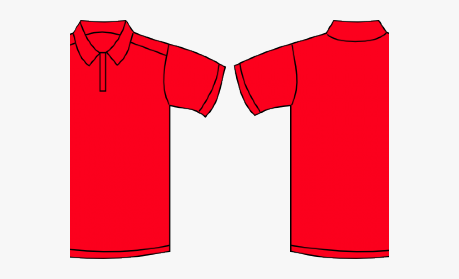 Collared shirt clipart stock Tshirt Clipart Collared Shirt - Red Polo Shirt Template #100665 ... stock