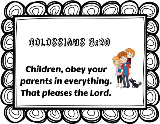 Collasians 3 clipart picture transparent download Bible Stories and Memory Verses » What Grandma Teaches Me picture transparent download