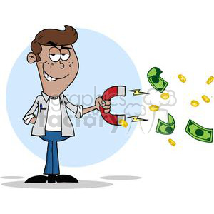 Collecting clipart jpg black and white teenager collecting money using a big magnet clipart. Royalty-free clipart  # 380714 jpg black and white