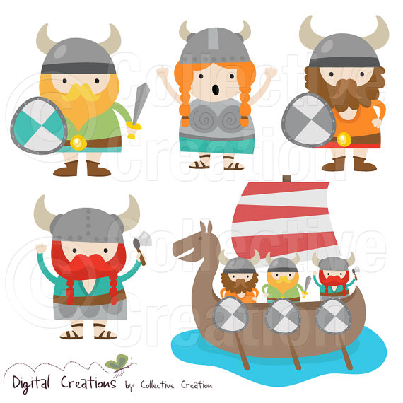 Collective creation clipart clip art library Little Vikings Digital Clip Art Clipart Set by CollectiveCreation ... clip art library
