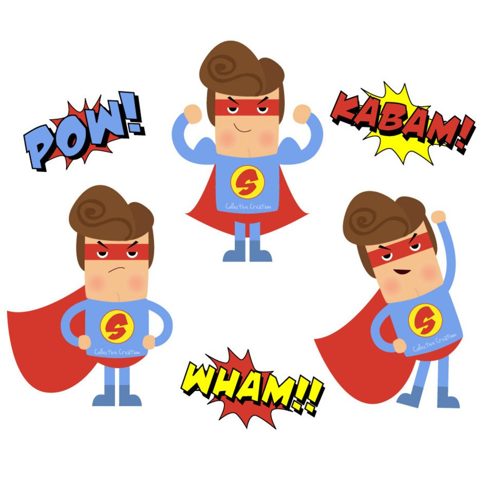 Collective creation clipart clip art stock Superhero Digital Set Personal And By Collectivecreation clipart ... clip art stock