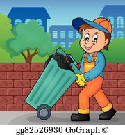 Collectors clipart graphic freeuse library Garbage Collector Clip Art - Royalty Free - GoGraph graphic freeuse library