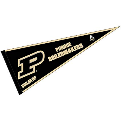 College flag clipart clip freeuse library College Flags and Banners Co. Purdue Boilermakers Pennant Full Size Felt clip freeuse library