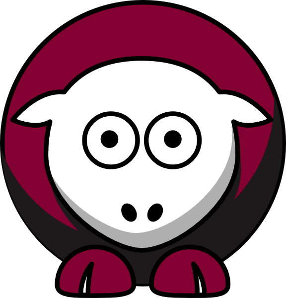 College football clipart svg black and white stock Sheep - Fordham Rams - Team Colors - College Football Clip Art at ... svg black and white stock