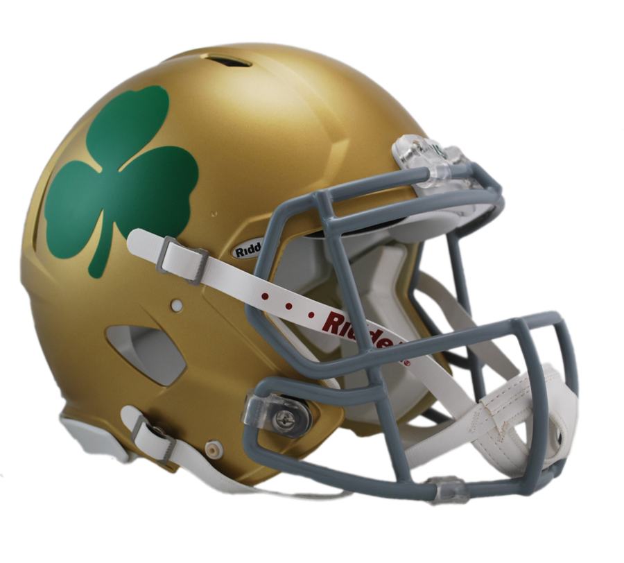College football helmet clipart vector transparent library Notre Dame Shamrock Revolution Speed Authentic Helmet vector transparent library