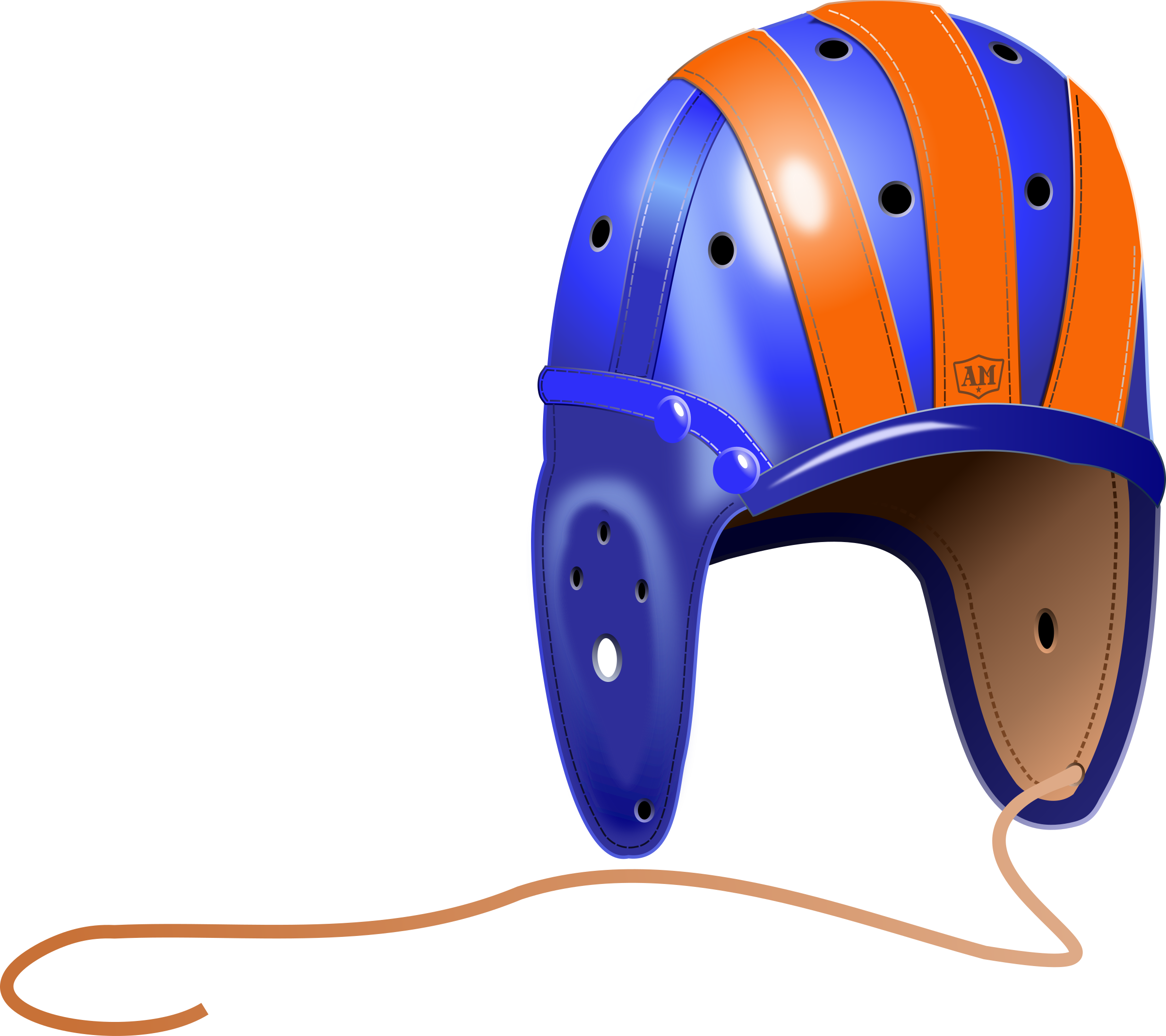 College football helmet clipart image transparent stock Clipart - 1940's Leather Football Helmet image transparent stock
