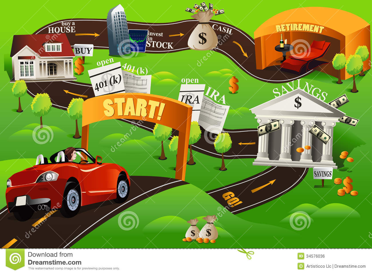 k stock illustrations. College road map clipart