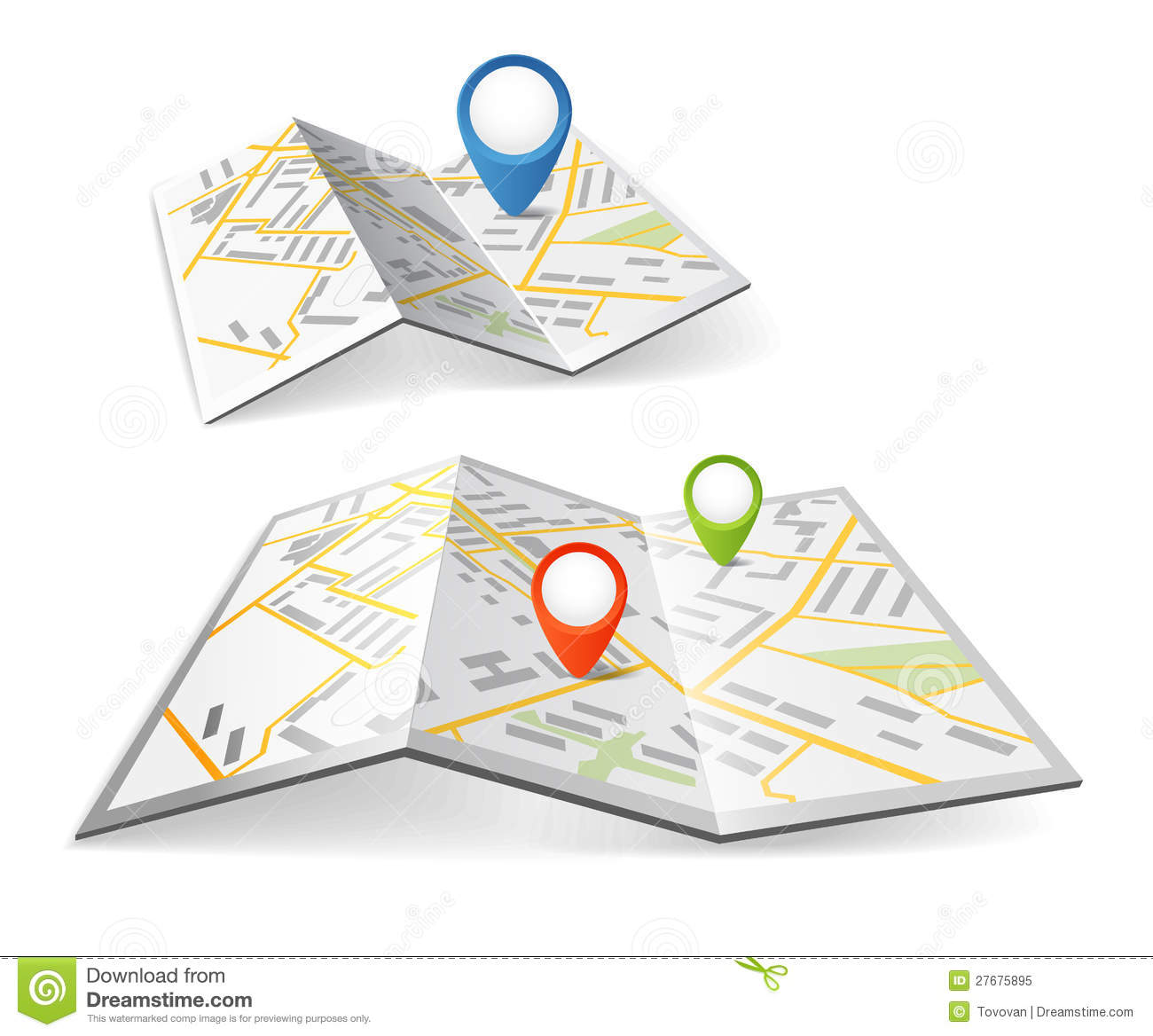 College road map clipart. Clipartfox folded