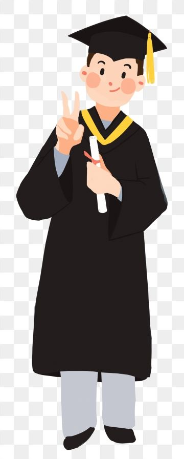 College student clipart free jpg library download Hand Painted Illustration Graduation Graduation Season, Student ... jpg library download