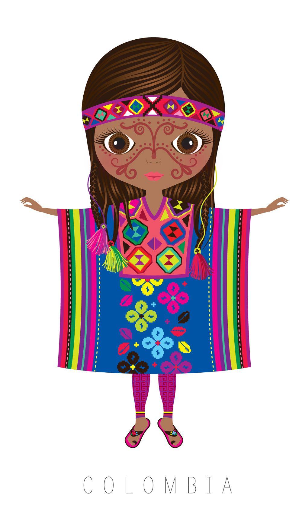 Colombia trajes tipicos clipart image freeuse Pin de Marlyn Acosta en Clipart | Trajes tipicos del mundo, Muñecas ... image freeuse