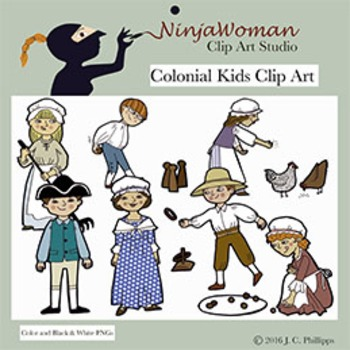 Colonial children clipart image free stock Colonial Kids Clip Art image free stock