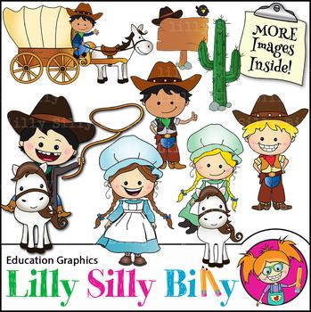 Colonial children clipart png transparent Clipart - Colonial Kids {Lilly Silly Billy} png transparent