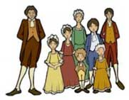 Colonial children clipart clip black and white Colonial Kids: Main Ideas, Inferences & Summarizing | Education World clip black and white