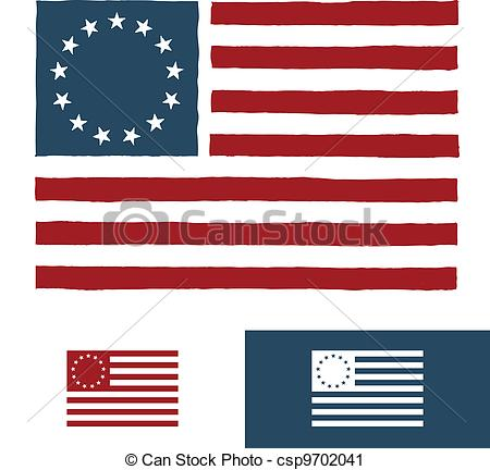 Colony us flag clipart vector freeuse Vector Clip Art of Original American flag design - Original ... vector freeuse