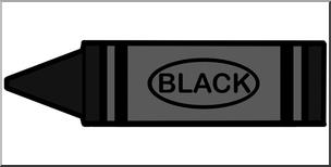 Color black clipart svg freeuse stock Clip Art: Crayon Black Color I abcteach.com   abcteach svg freeuse stock