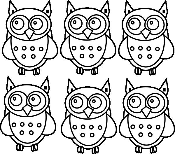 Coloring book clipart royalty free download Coloring Book Owls Clip Art at Clker.com - vector clip art online ... royalty free download