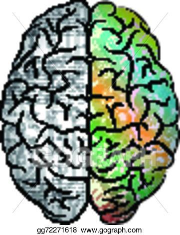 Color brain clipart vector royalty free Vector Illustration - Human brain color. EPS Clipart gg72271618 ... vector royalty free