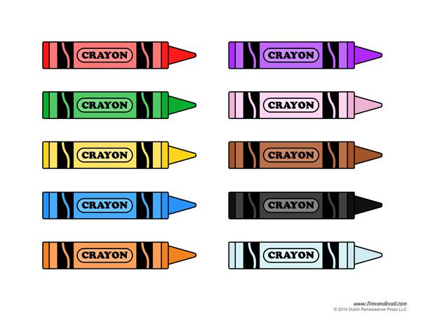 Color crayon clipart jpg crayon template printable | Colors | Crayon template, Preschool ... jpg