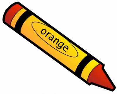 Color crayon clipart jpg library stock I see an orange crayon. Orange, orange all around. See the orange ... jpg library stock
