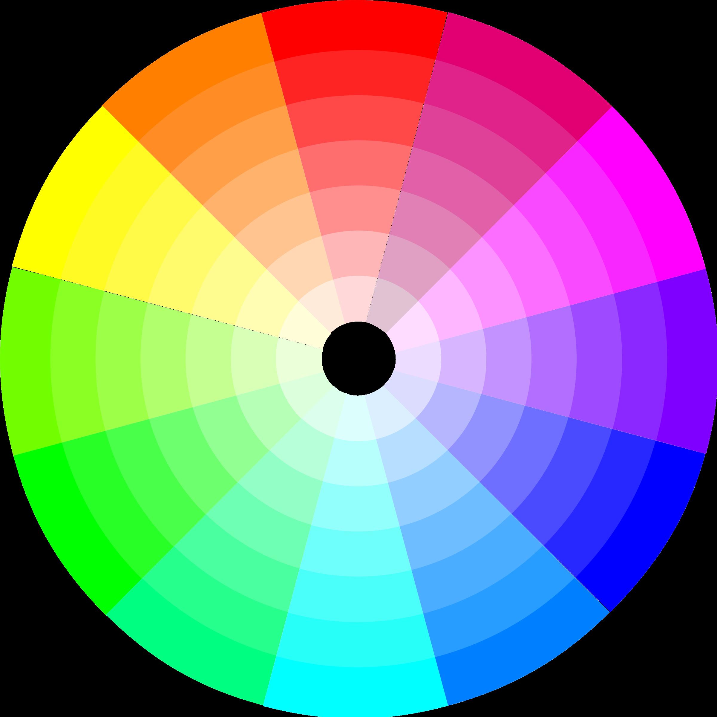 Color graphic clipart transparent stock Clipart - Color Wheel (12x7) transparent stock