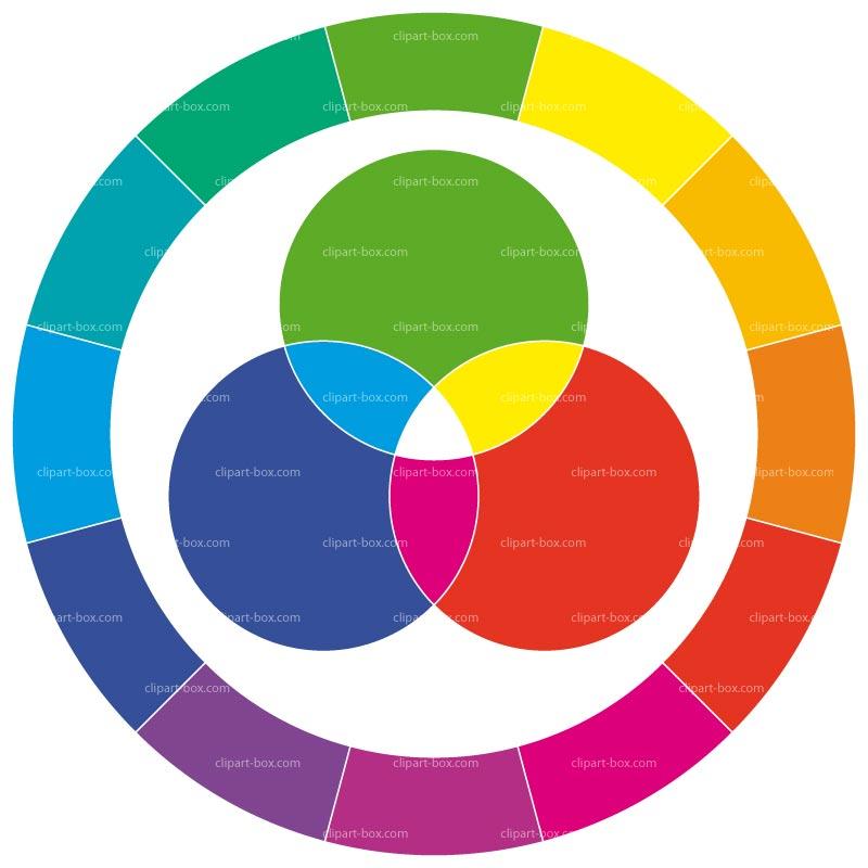 Color graphic clipart clip art transparent Color Wheel Clipart - Clipart Kid clip art transparent