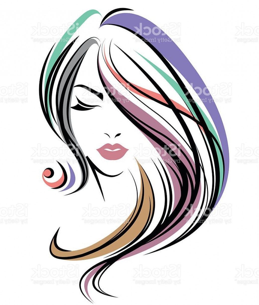 Color hair clipart vector Women Color Hair Style Women Face On White Background Gm | GeekChicPro vector
