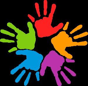 Color hand clipart banner transparent mans-color   Art   Hand clipart, Unity in diversity, Big five ... banner transparent