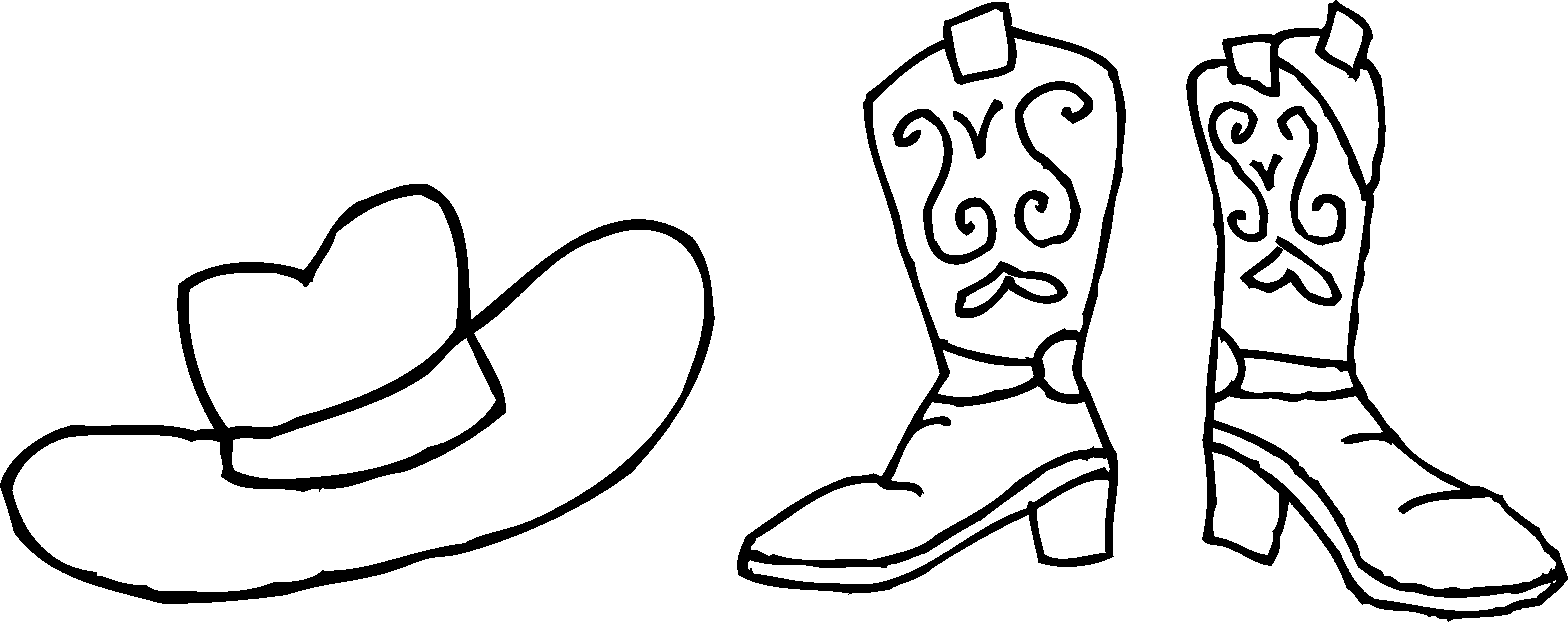 Cowboys boots clipart with crown transparent stock Cowboy Hat And Boots Drawing at GetDrawings.com | Free for personal ... transparent stock