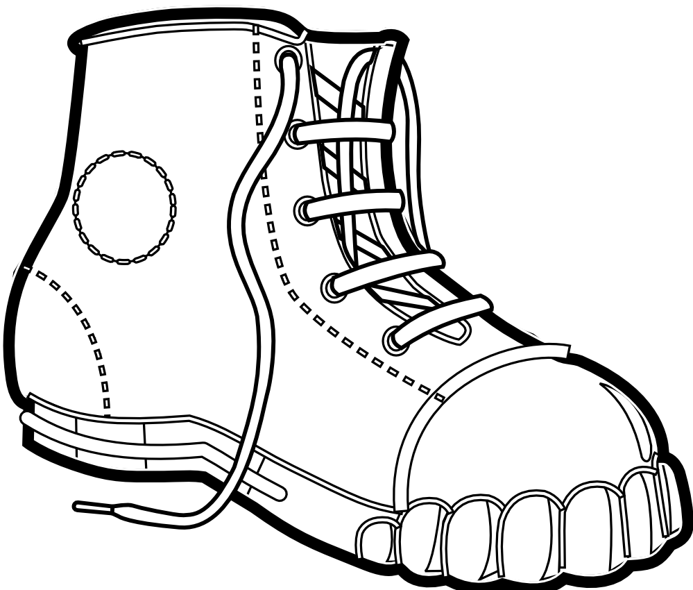Color hiking book clipart clip library download Hiking Boot Drawing at GetDrawings.com   Free for personal use ... clip library download