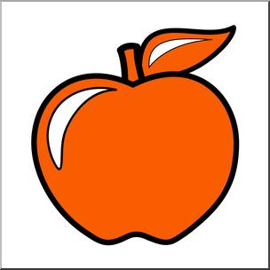 Color orange clipart banner download Clip Art: Colors: Apple 02: Red Orange Color I abcteach.com | abcteach banner download