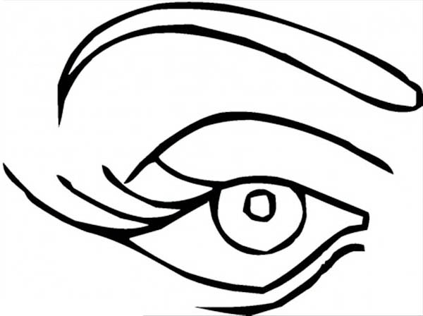Eye coloring pages for. Color sheet clipart eyes