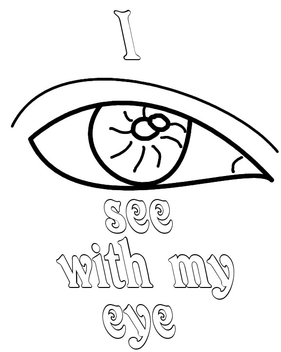 Coloring pages kid realistic. Color sheet clipart eyes