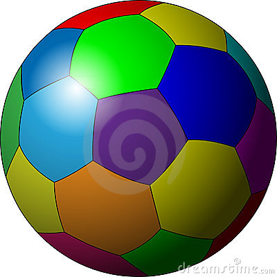 Color soccer ball clipart black and white stock Color soccer ball clipart - ClipartFest black and white stock