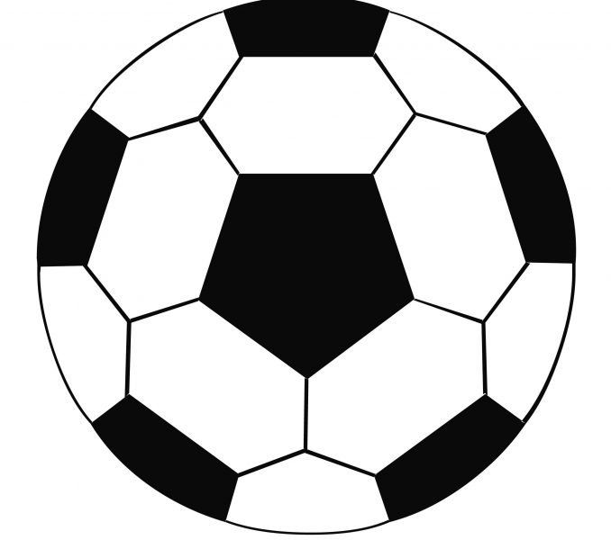 Color soccer ball clipart picture royalty free download Soccer Ball Coloring Page : New Coloring - brockportcc.com picture royalty free download