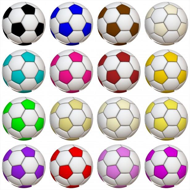 Color soccer ball clipart. Clipartfest balls free stock