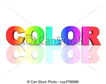 Color stock clipart art svg free Stock Illustration of the word COLOR in rainbow colors csp3798996 ... svg free