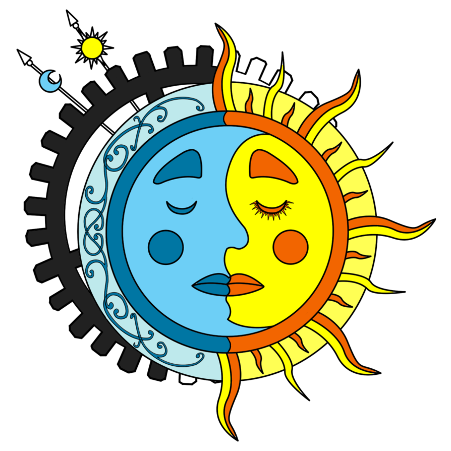 Color sun tattoo clipart image library library Moon Sun Steampunk Tattoo color 1 by dimensionten on DeviantArt image library library