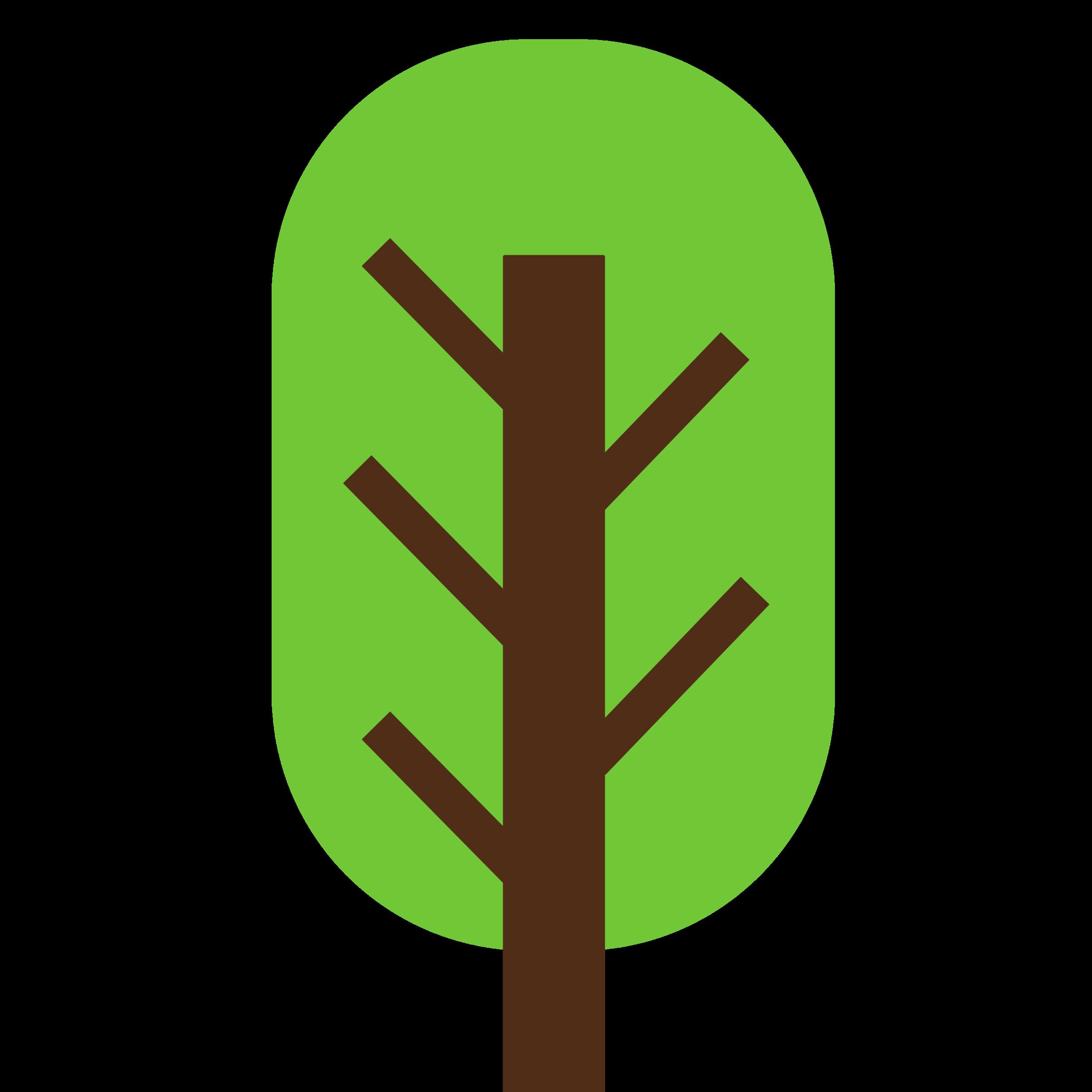 Tree logo clipart clipart transparent stock Clipart - Square Tree- 2-color- squarish and geometric. clipart transparent stock
