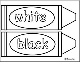 Color vs black and white clipart vector free Printable Crayon Pattern to Color - White and Black - Bulletin Board ... vector free