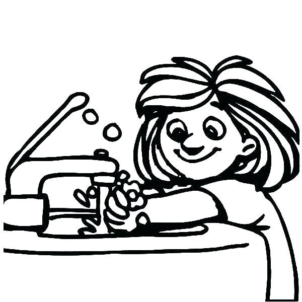 Black and white clipart of washing hands image library stock Washing Hands Drawing | Free download best Washing Hands Drawing on ... image library stock