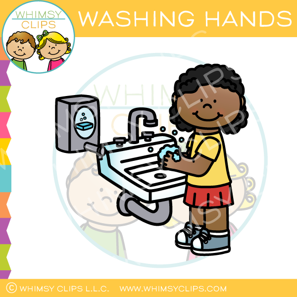 Color wash clipart graphic library download Girl Washing Hands Clip Art graphic library download