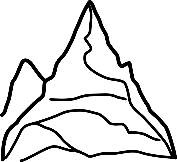 Mountain cat clipart clipart free Chain Of Mountains Clip Art At Clker Com Vector Clip Art Online ... clipart free