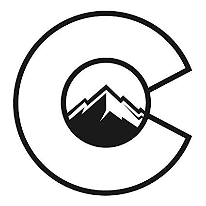 Colorado mountains clipart vector black and white download Colorado Flag C With Mountains Decal Vinyl Sticker Cars Trucks Vans Walls  Laptop  Black  5.5 x 5.25 in CCI1261 vector black and white download