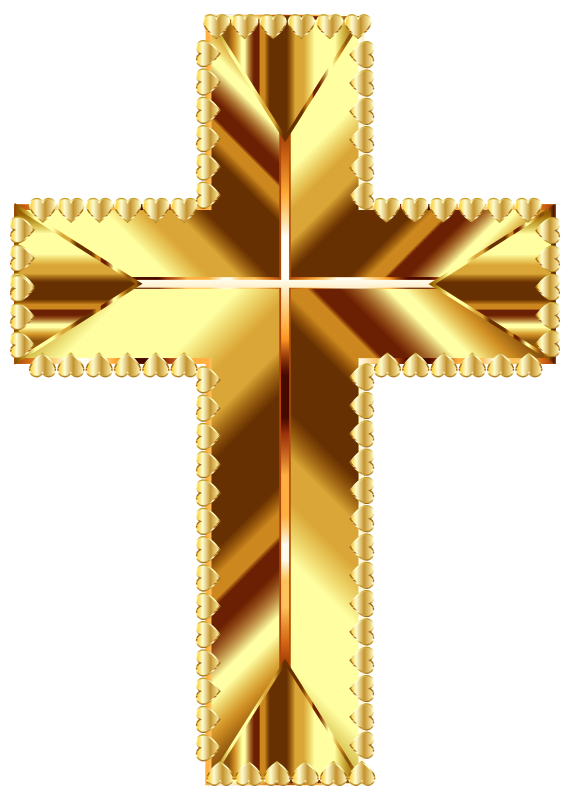Colored cross clipart image transparent library Clipart - Golden Cross Love Deeper Color No Background image transparent library