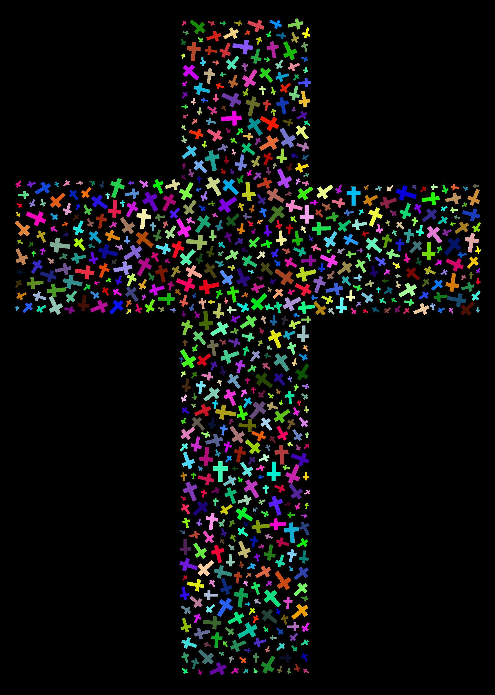 Colorful cross clipart clip freeuse Clipart - Prismatic Cross Fractal clip freeuse