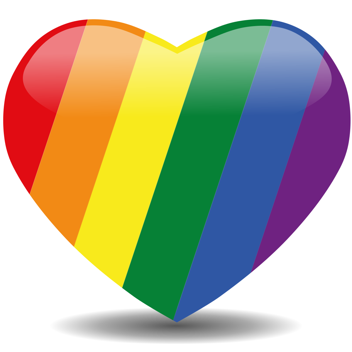 Colored crown with a heart inside clipart graphic royalty free library Rainbow heart | Show me the colors | Pinterest | Rainbows, Pride and ... graphic royalty free library